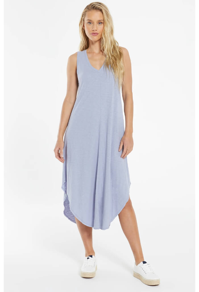 Z Supply The Reverie Midi Dress Dress - Lavender Grey