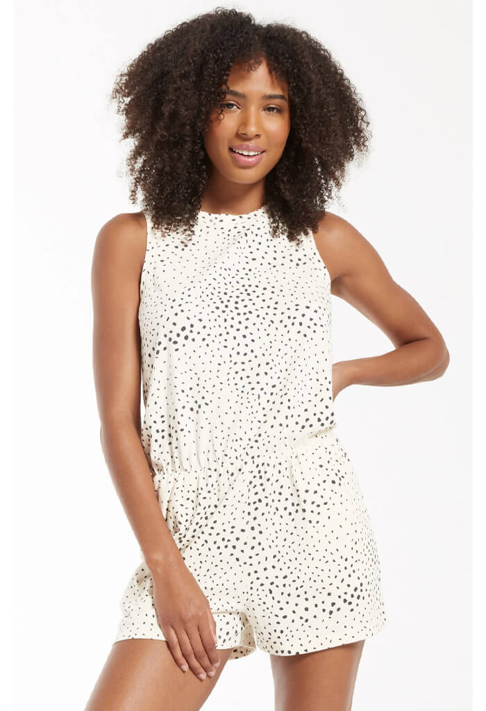 Z Supply Adira Dot Cotton Romper
