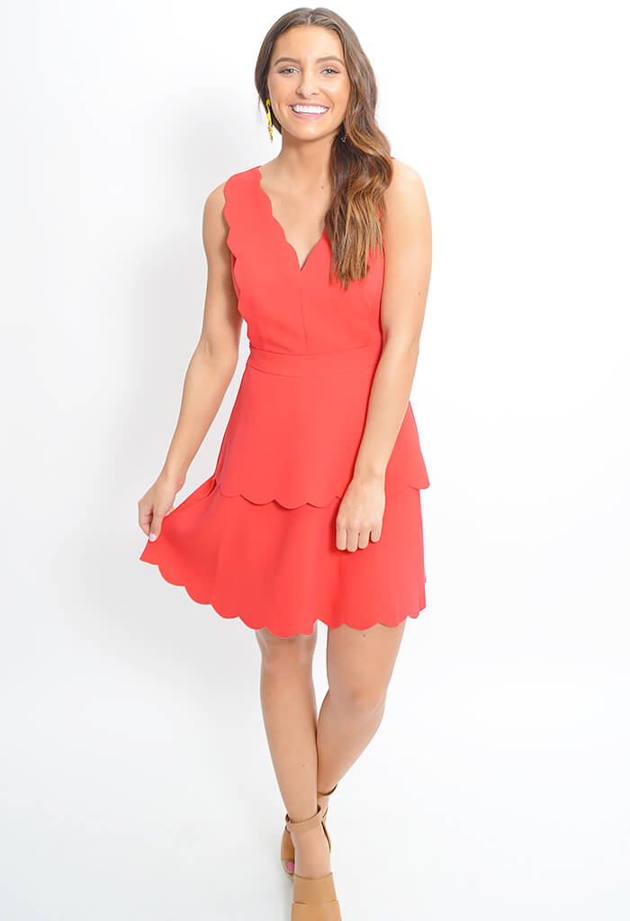Jaden Woven Scallop Dress