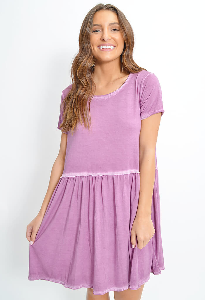 Day Date Dress-Mauve