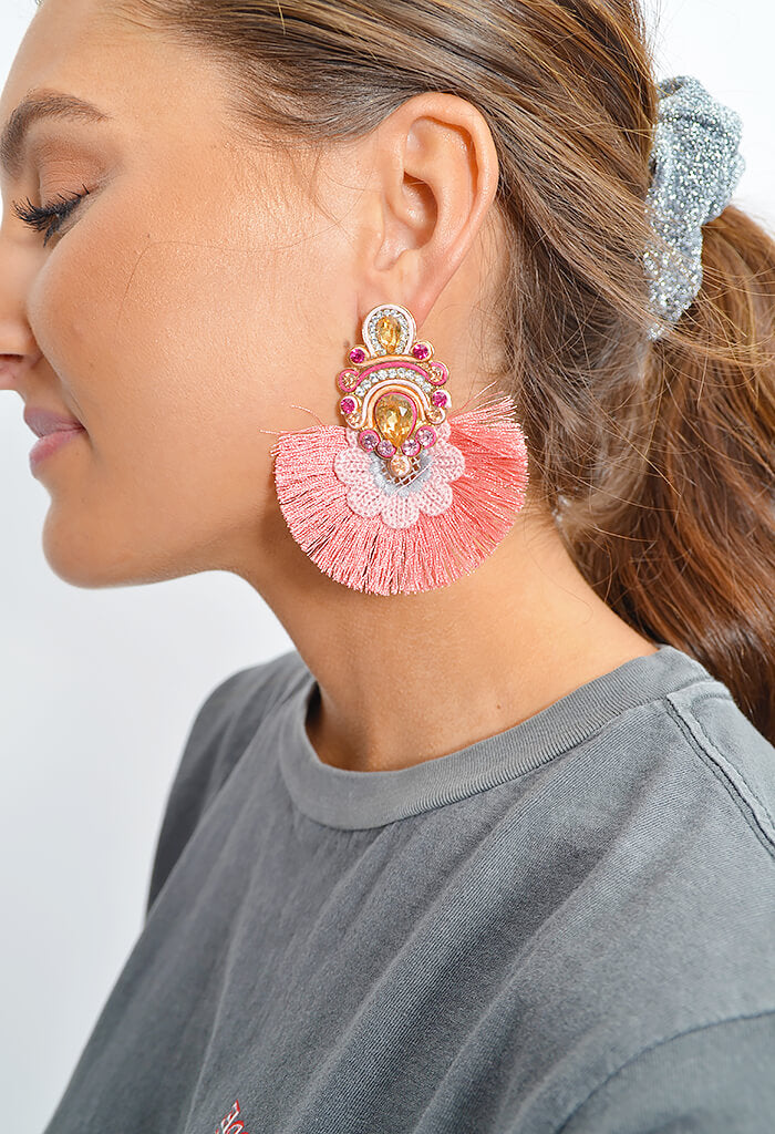 Peach Burst Earrings