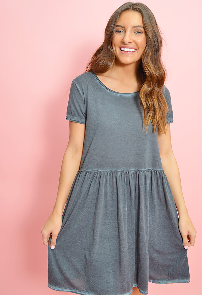 Day Date Dress-Charcoal