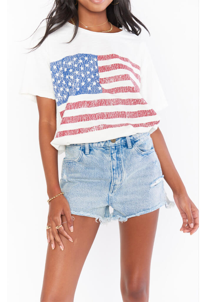 Show Me Your Mumu Cooper Tee-American Flag Graphic
