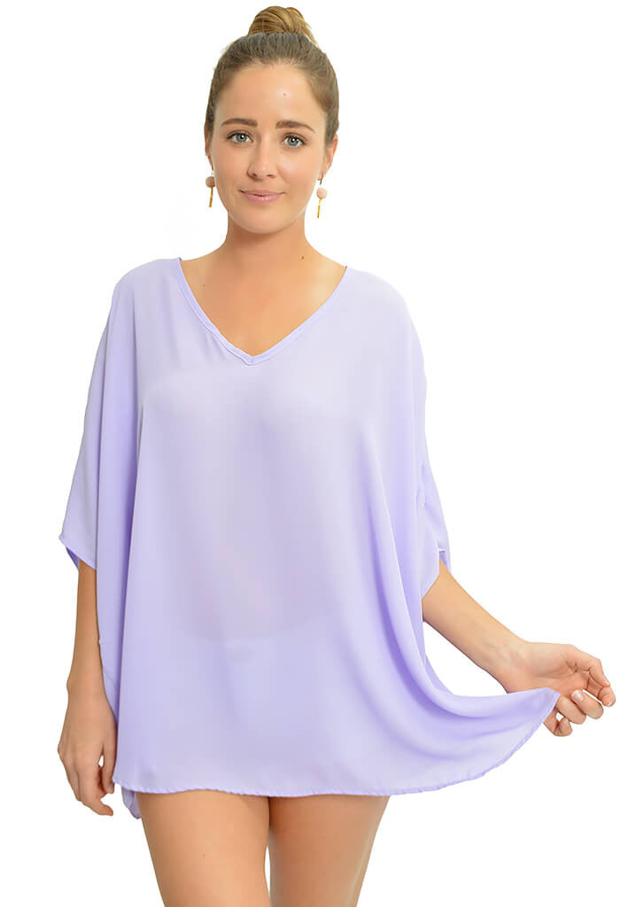 Adrienne Lilac Bliss Blouse-front