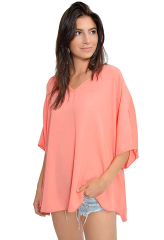 Bliss Blouse - Coral