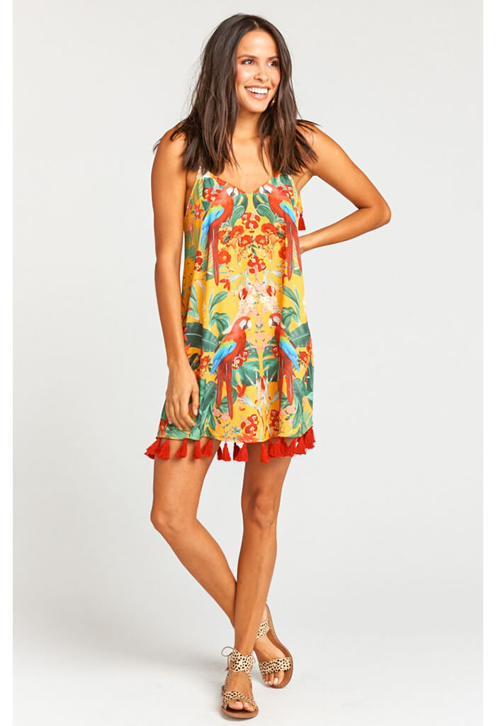 Throw and Go Tassel Mini Dress ~ Pollys Paradise