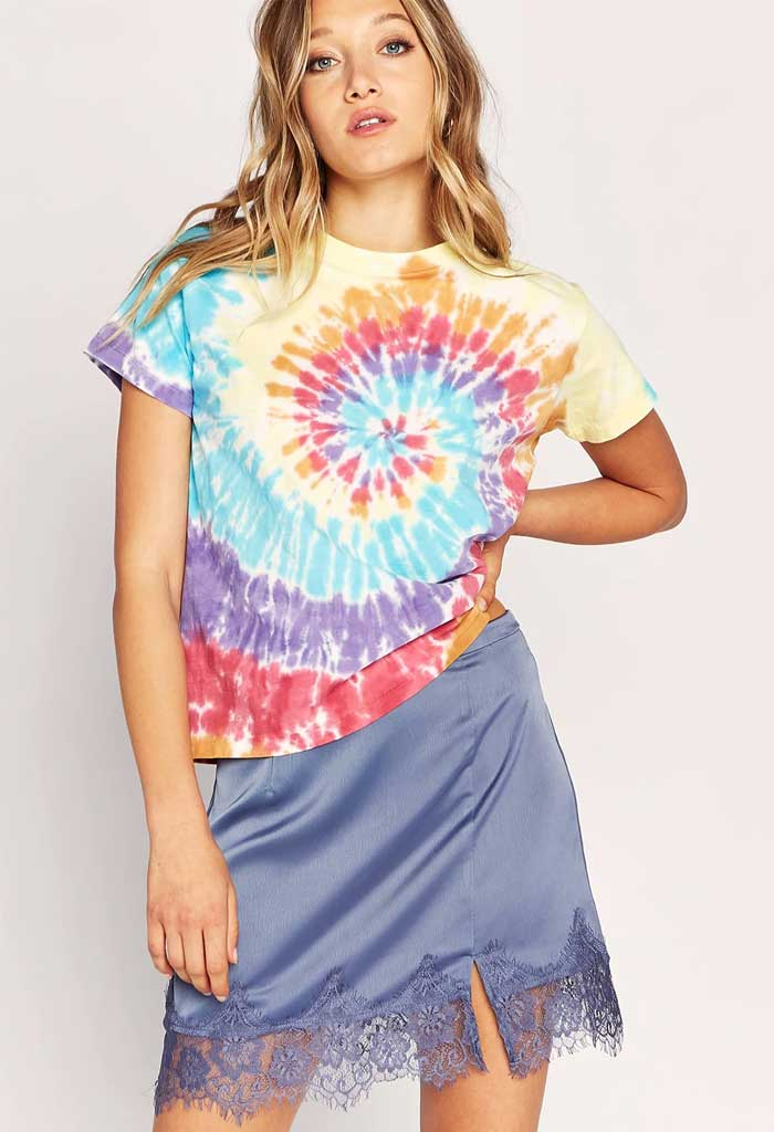 Tie Dye Girlfriend Tee in Woodstock