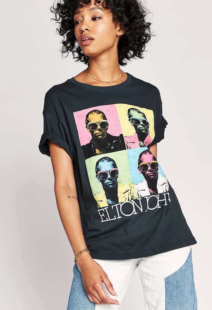 Elton John Pop Color Boyfriend Tee