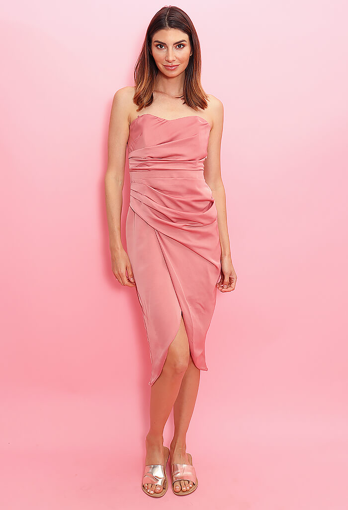 KK Bloom French Rose Midi Dress