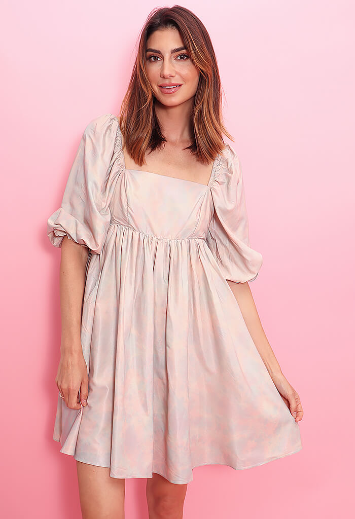 KK Bloom Pink Cloud Babydoll Dress