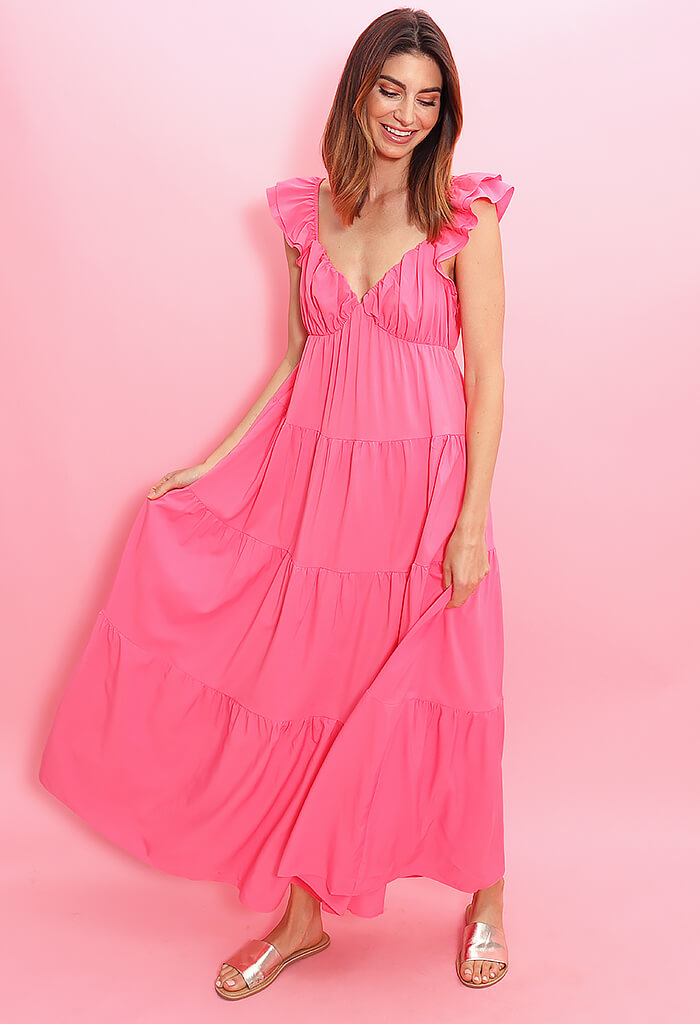 KK Bloom Gumdrop Maxi Dress-Pink