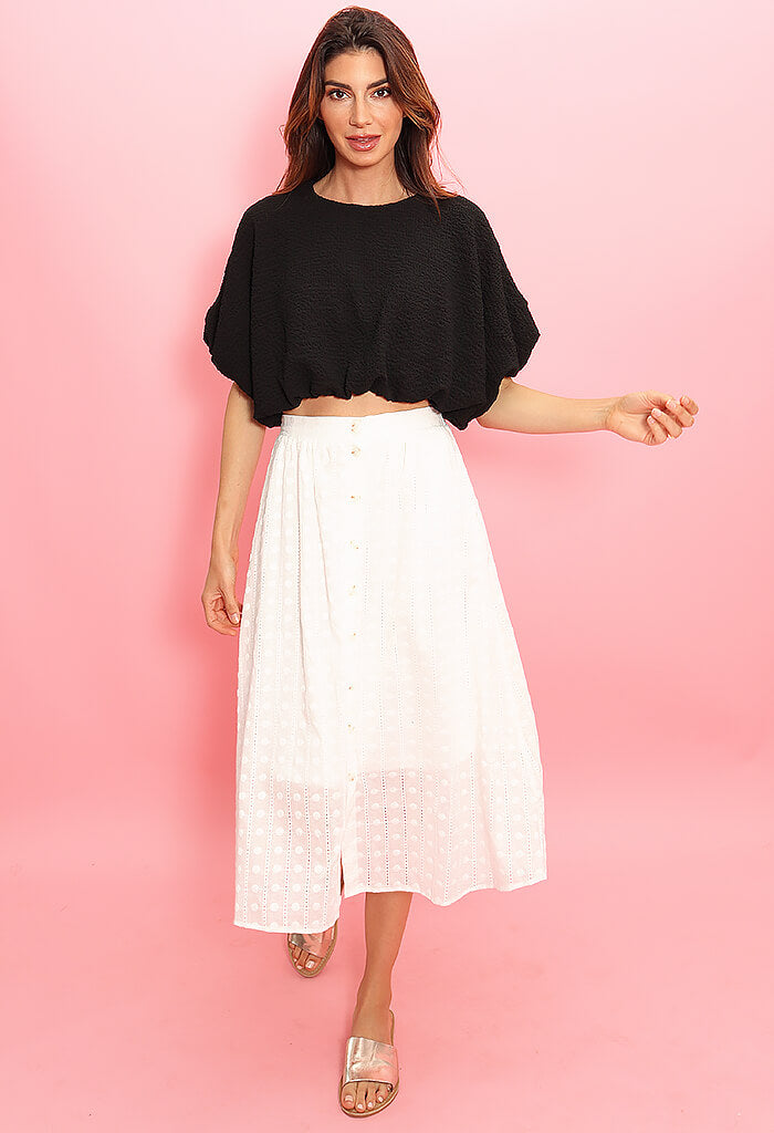 Blu Pepper Hello Darling Midi Skirt