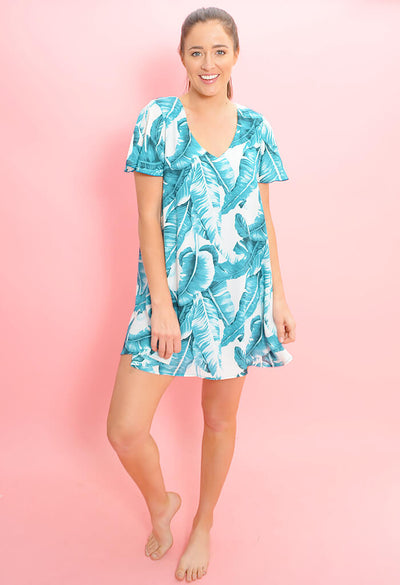 Sterling Mini Dress-Palm