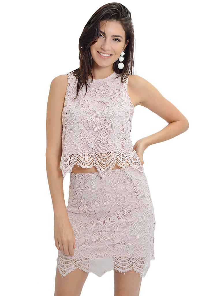 She and Sky Blush Peony Party Top