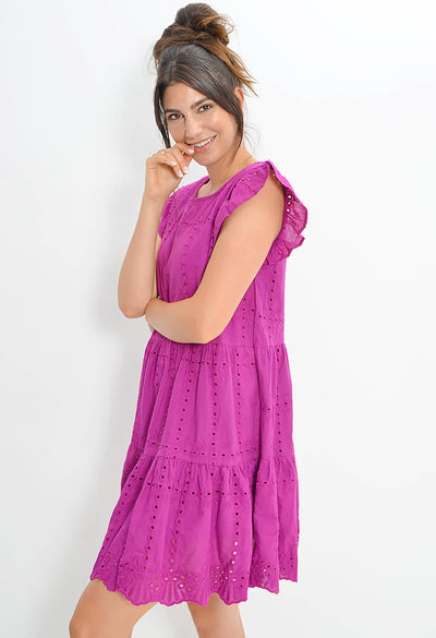 Let it Bloom Dress - Magenta