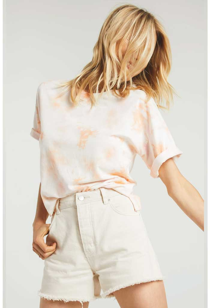 Cora Hazy Tee in Coral