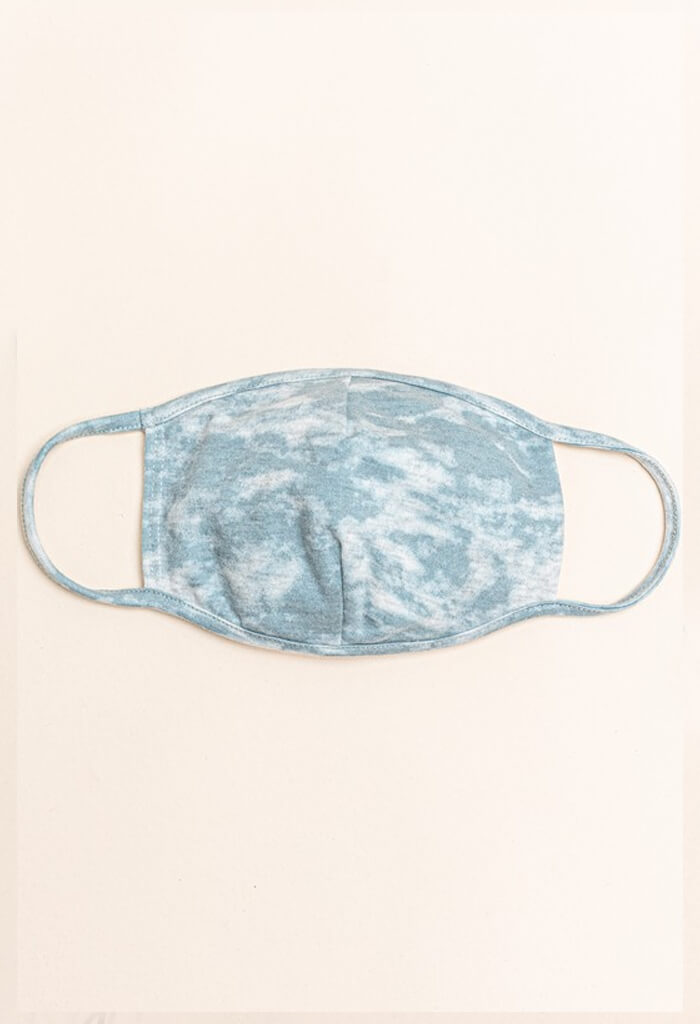 Sky Blue Tie Dye Reusable Mask