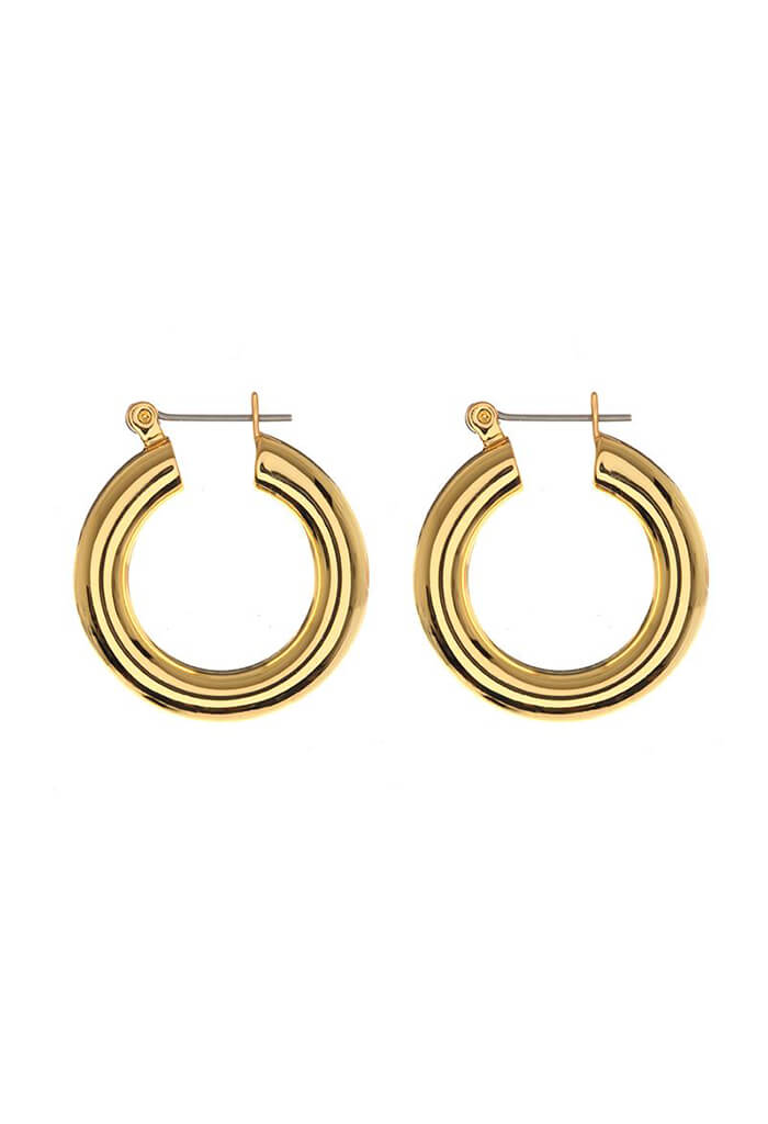 LUV AJ Baby Amalfi Tube Hoops- Gold