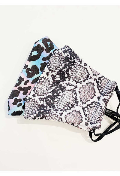 Snakeskin Print Reusable Mask