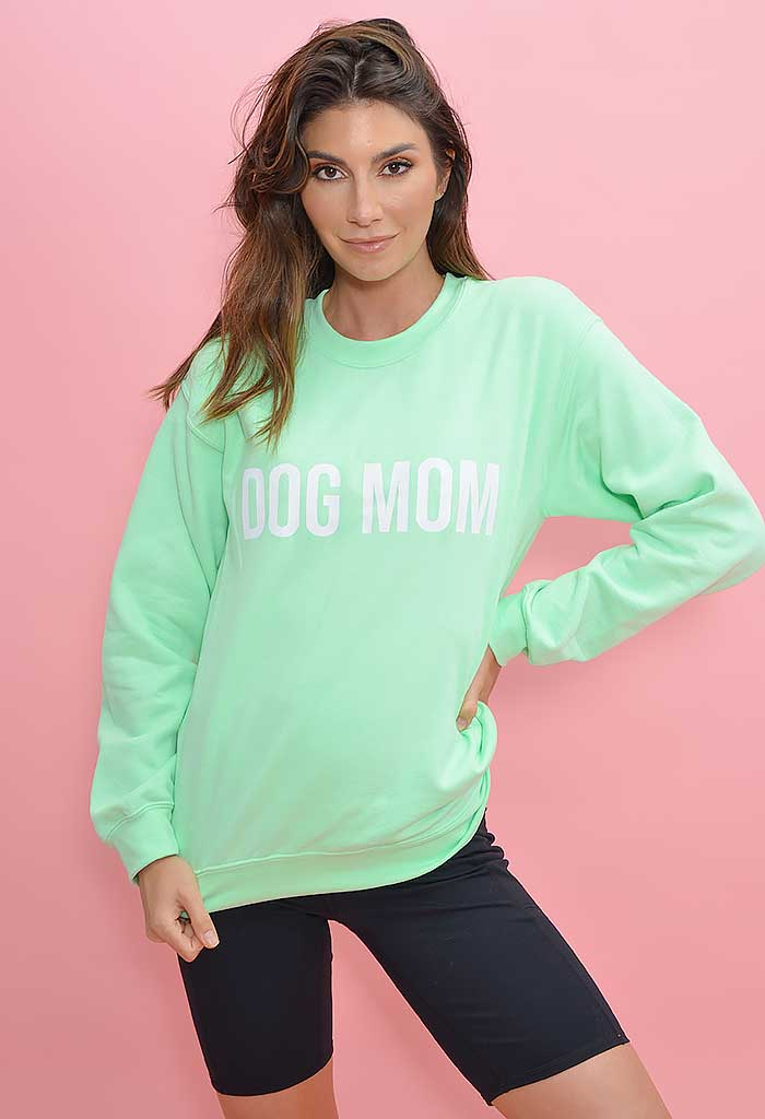 Dog Mom Sweatshirt-Mint