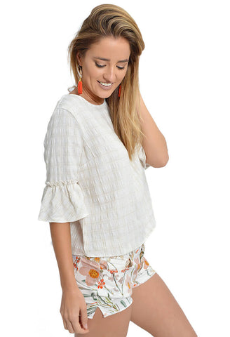 Ruffle Back Top