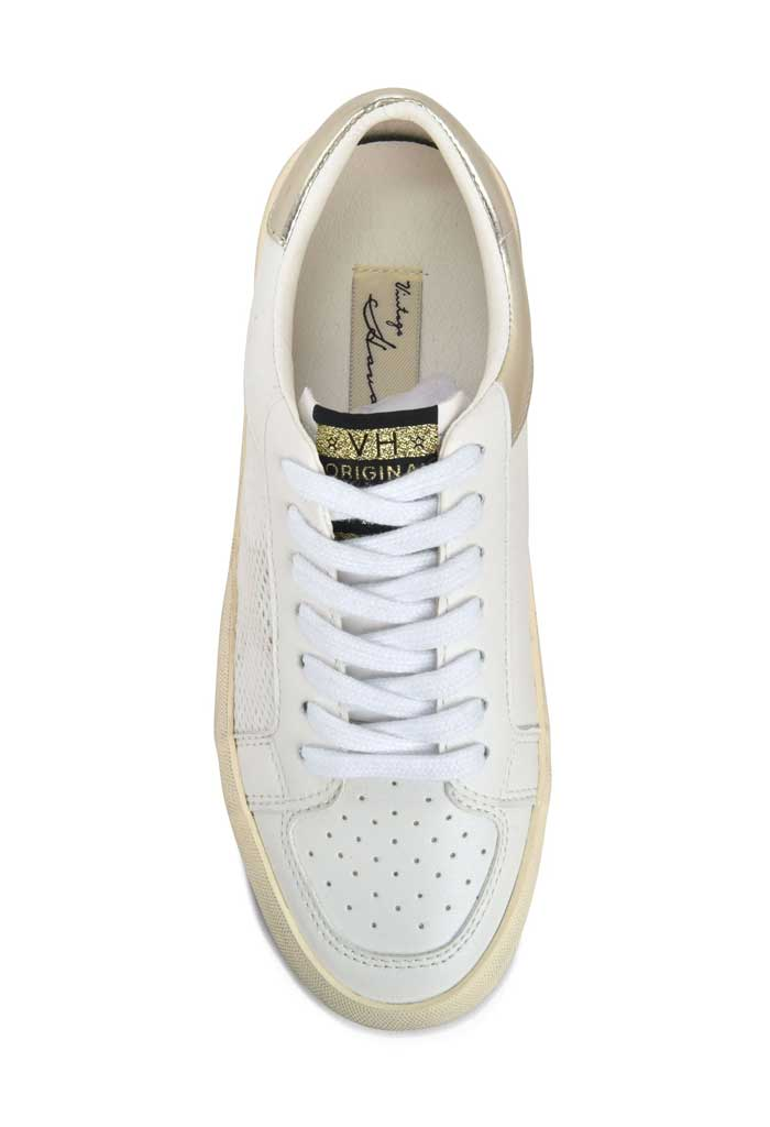 Gold Eye Sneaker-White/Gold