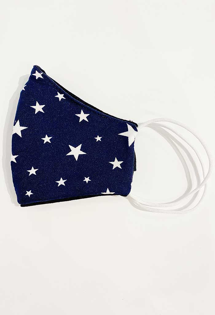 Navy Star Print Reusable Mask