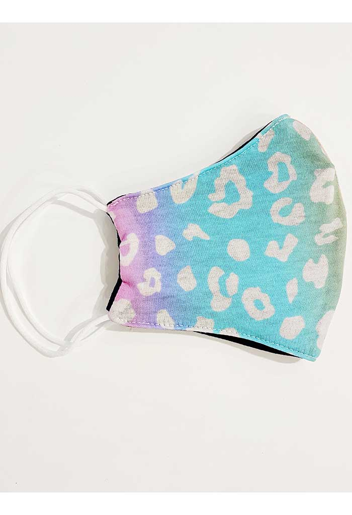Pastel Leopard Print Reusable Mask