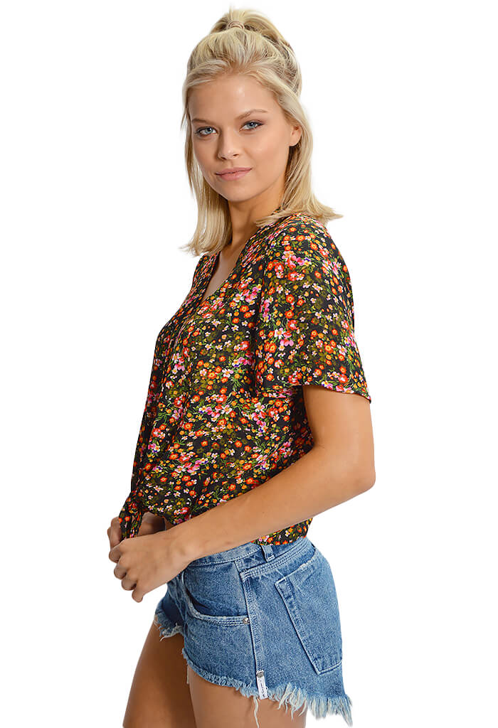 Bae Black Floral Top