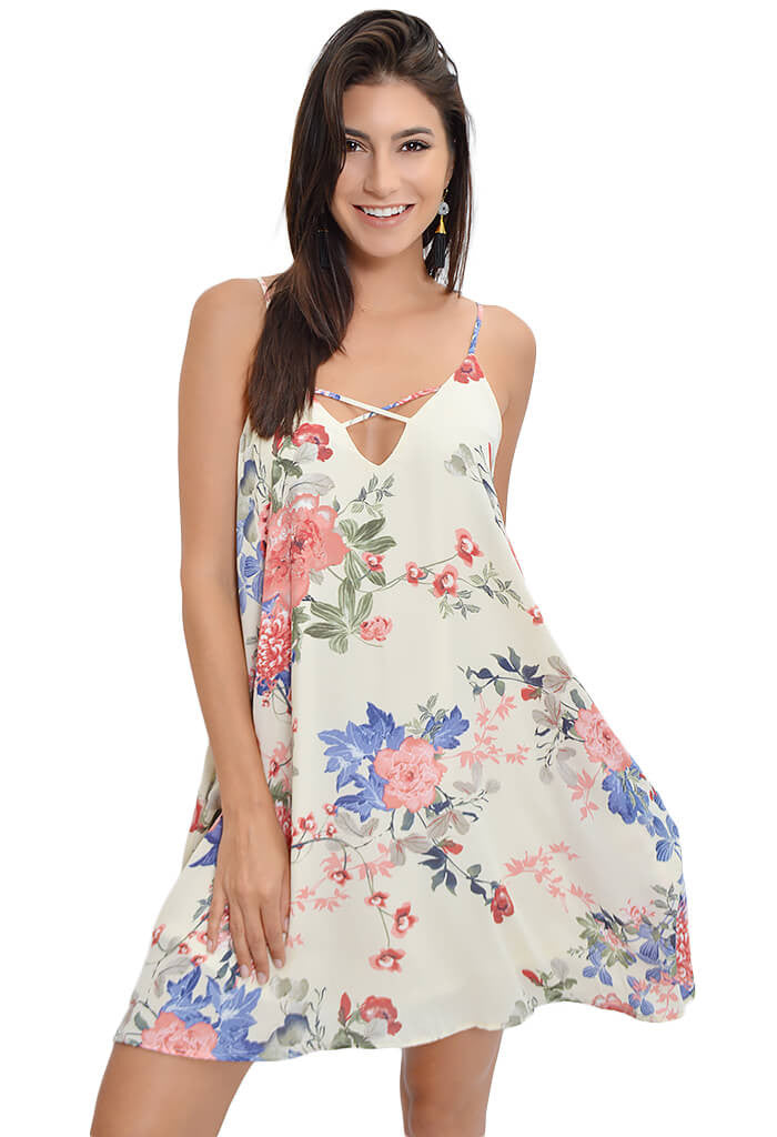 Peach Love Wildflower Whimsy Dress-front
