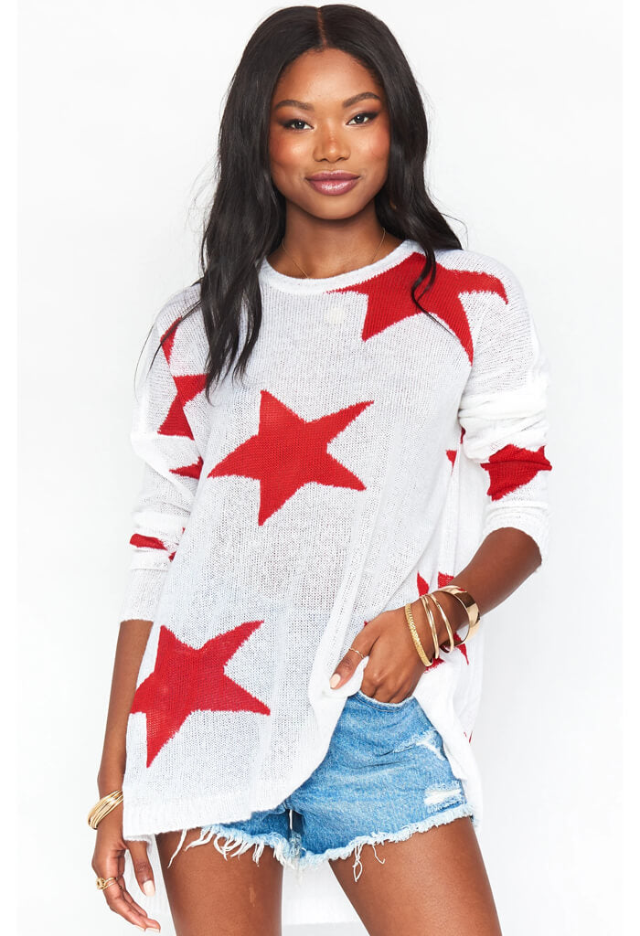 Bronson Sweater-Star Tossed Knit