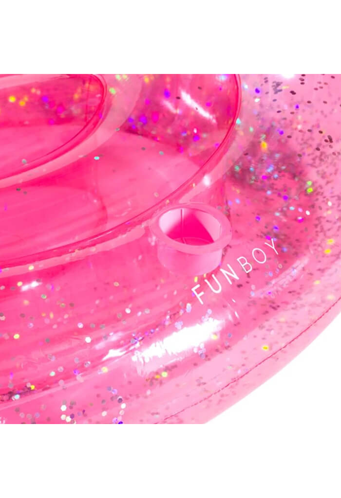 Clear Pink Glitter Unicorn Float