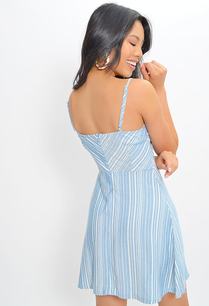 Fine Lines Dress - Chambray