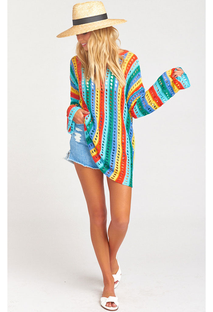 Cruz Sweater ~ Rainbow Tropic Knit