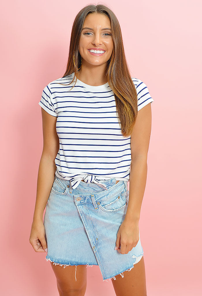 Stripes Ahoy Top - Optic White