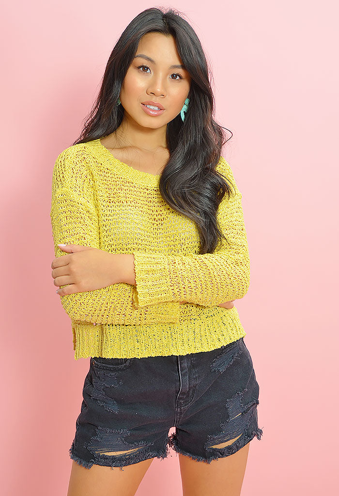 Nice Knits Sweater - Citrus