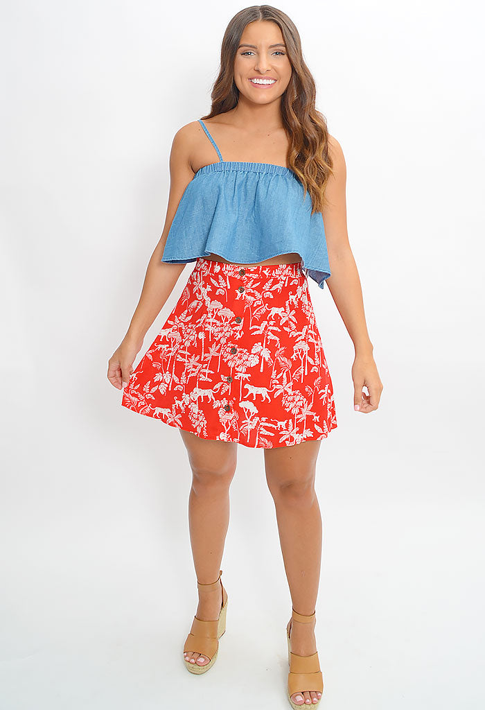 Sahara Breeze Mini Skirt