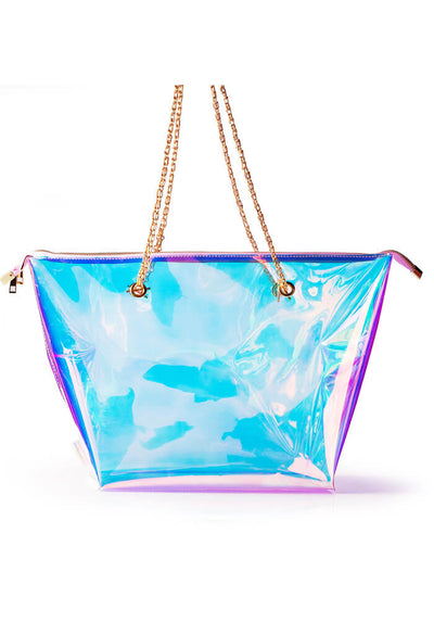 Iridescent Zip All Tote