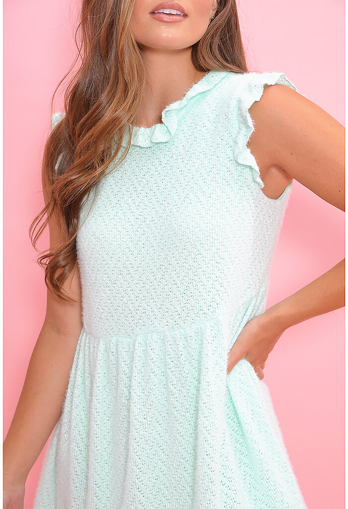 Cotton Candy Dress-Mint