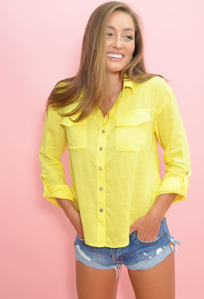 Carter Blouse - Lemon