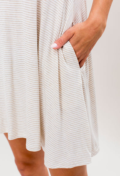 Oatmeal Stripe Dress