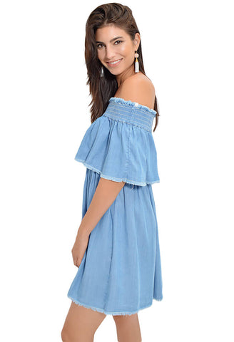 Serene Skies Chambray Dress