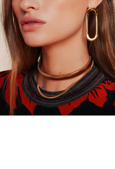 Double Snake Chain Choker