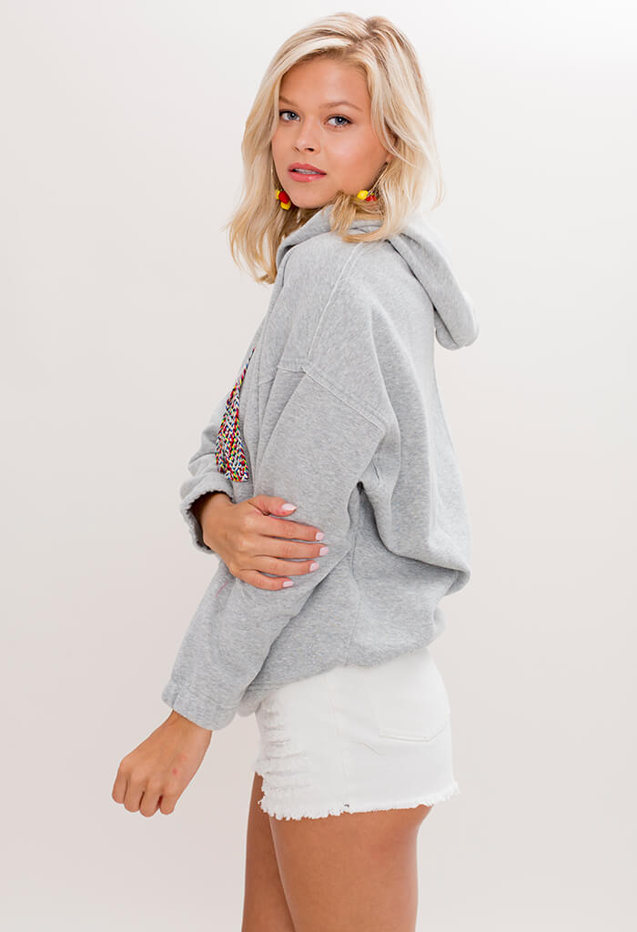 Free People Chill Out Pullover in Grey - KK Bloom Boutique