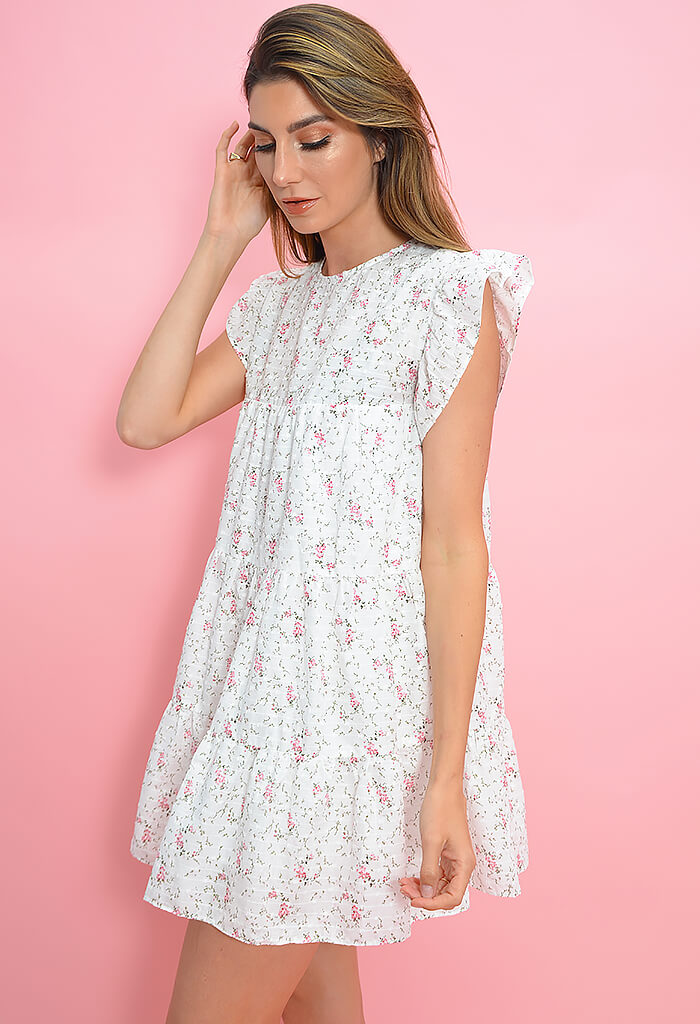 Rosewater Baby Doll Dress