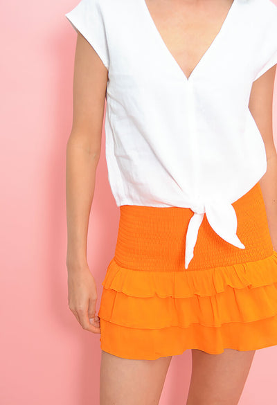 Cutie Skirt-Orange Citrus