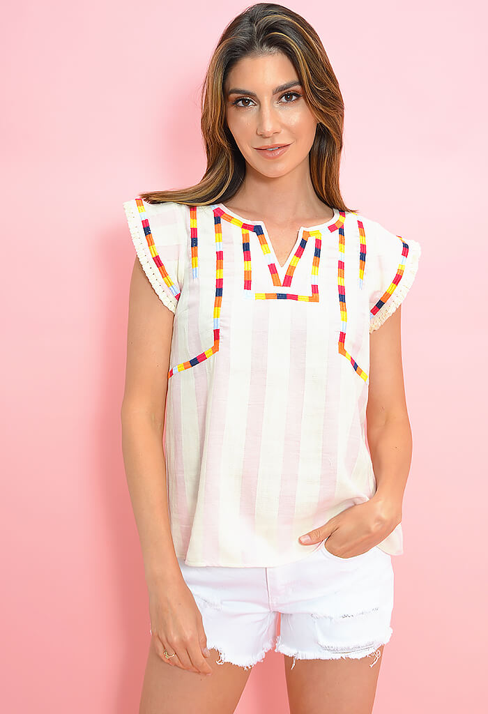 Candy Stripe Blouse