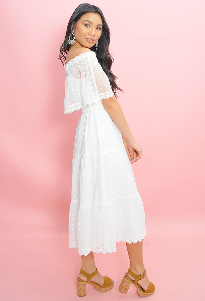 Contessa Dress-Marshmallow