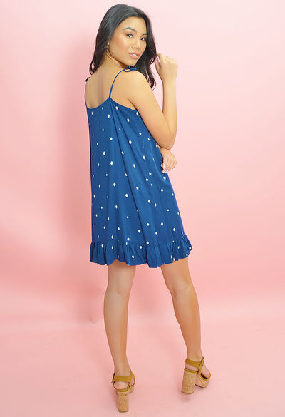 Abacus Dress-Lapis
