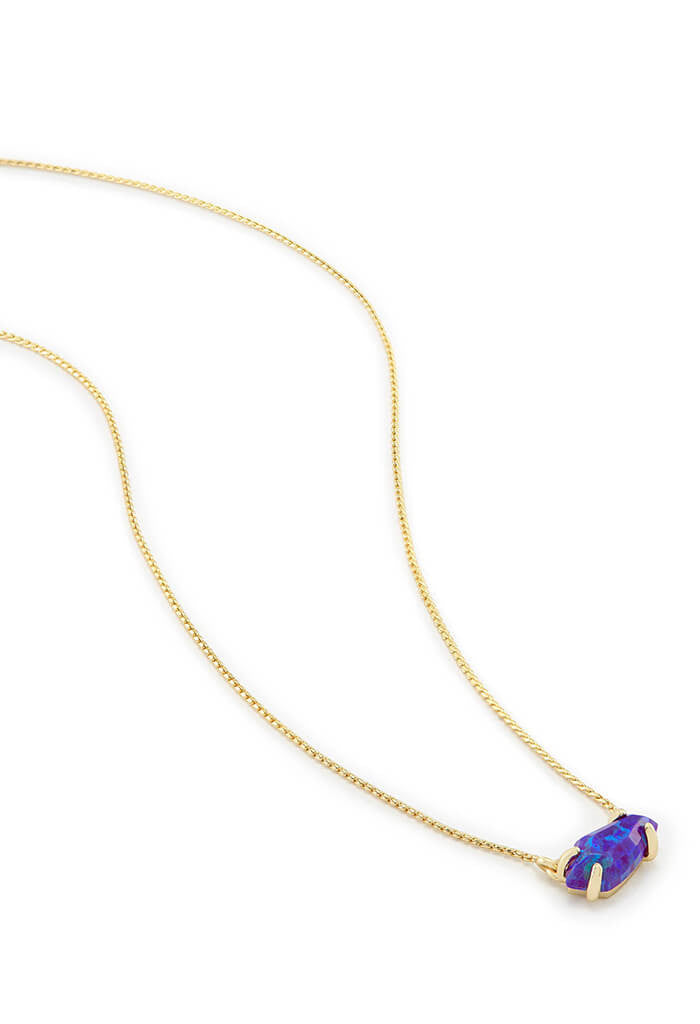 Kendra Scott Jayde Pendant Necklace in Purple Kyocera Opal